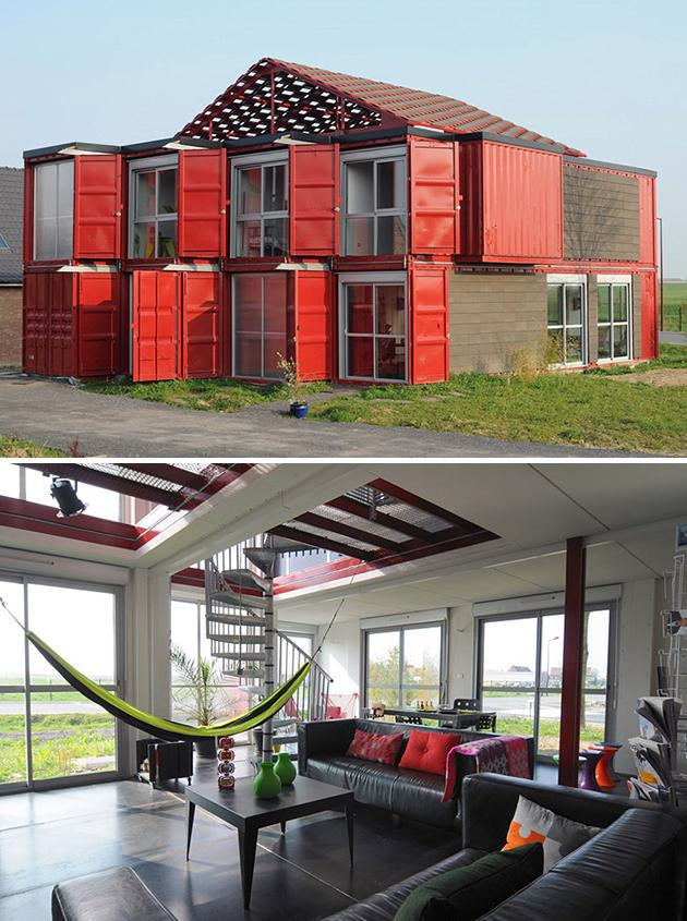 large shipping container house