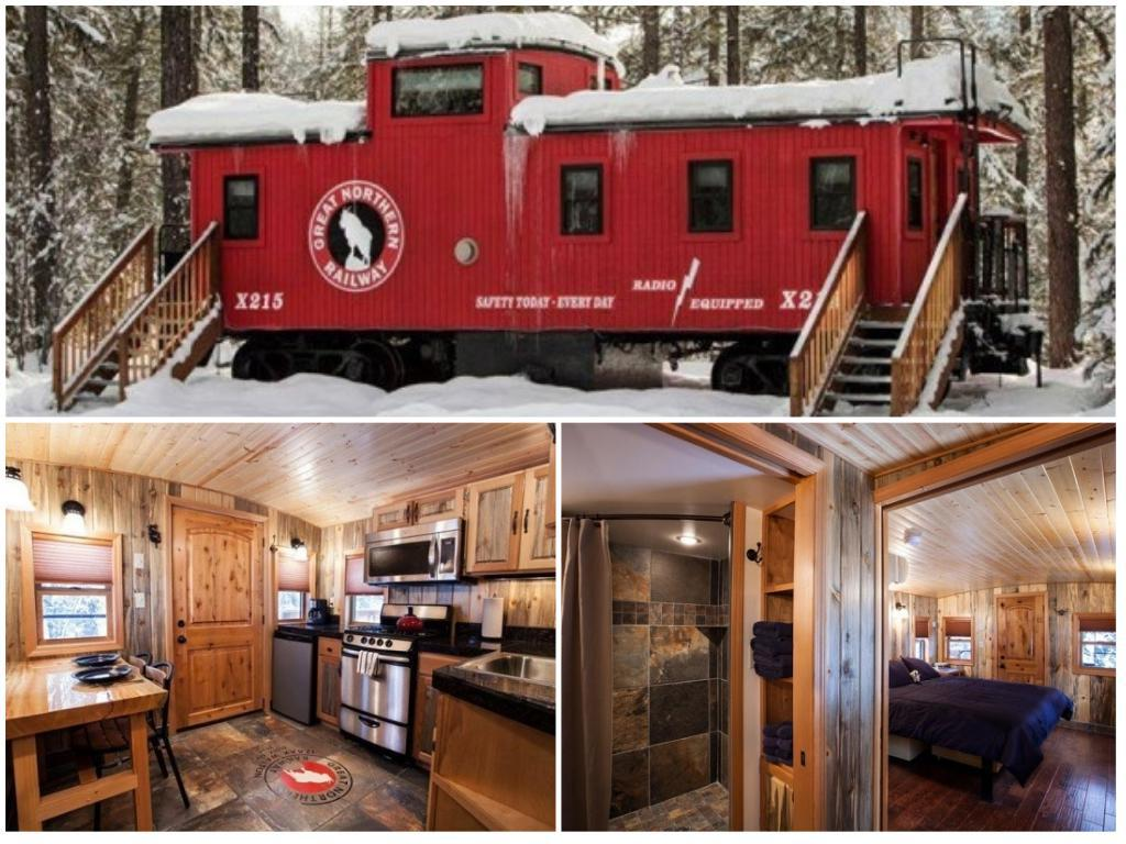 A Modern Rail Car. Train Caboose Tiny House