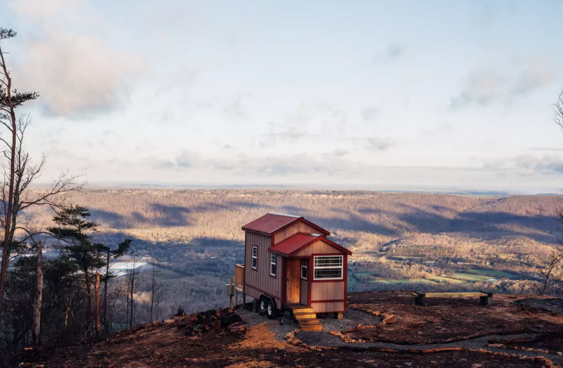 tiny house on top of mountain